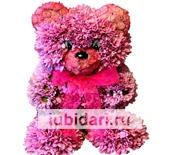 Мишка Розовый Пух из цветов