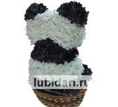 Большая Панда из цветов