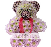 Мишка пушистик из цветов