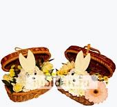 Зайчонок в сундучке мини из цветов