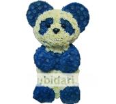Мишка Панда из цветов