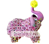 Слоник из цветов