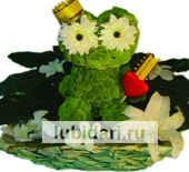 Царевна лягушка (к денежной удаче) из цветов