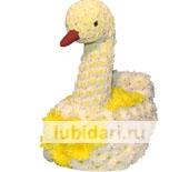 Лебедь Красавец из цветов
