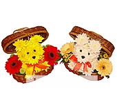 Собачка в сундучке мини из цветов
