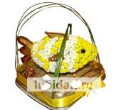 Золотая рыбка из цветов
