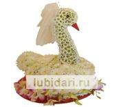 Лебедь невеста из цветов
