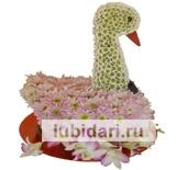 Лебедь жених из цветов