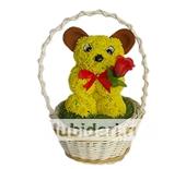 Мишка малютка из цветов