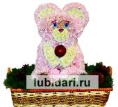 Мишка Нежный из цветов