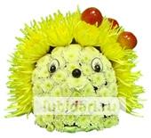 Ежик - малютка желтые иголочки из цветов